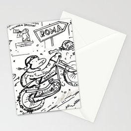 Apes in Vintage Italian Motorcycle Race Stationery Cards
