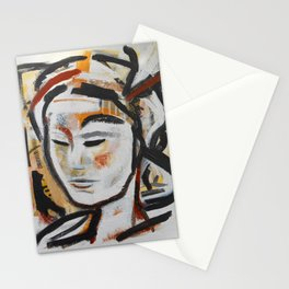 DUNE abstract portrait earth goddess Stationery Cards