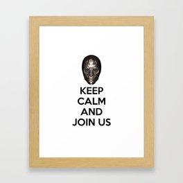Keep Calm And Jon Us Framed Art Print
