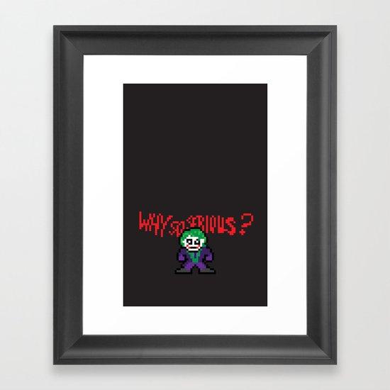 The Dark Pixel Framed Art Print