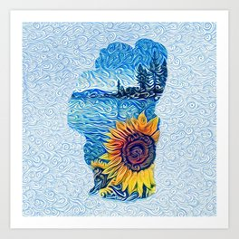 Tahoe Sunflower Art Print