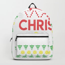 Ugly Christmas Gin Lover Let Christmas Be Gin Gift Backpack