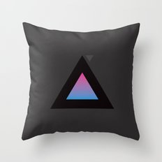 The Triangle Experiment Throw Pillow