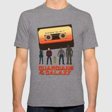 GUARDIANS OF THE GALAXY LARGE Tri-Grey Mens Fitted Tee