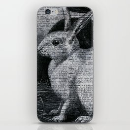 Dictionary Bunnies by Kathy Morton Stanion iPhone Skin
