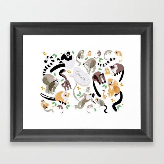 Lemurs! Framed Art Print