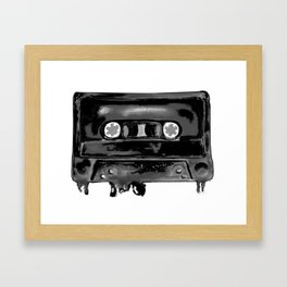 Black Tape Framed Art Print