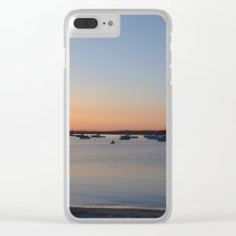 Brine & Boats • Sunset at Peaceful Pine Point Clear iPhone Case