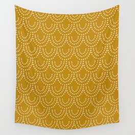 Dotted Scallop in Gold Wall Tapestry