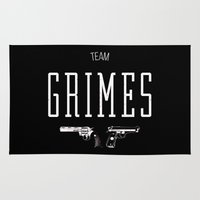 grimes Area & Throw Rugs featuring Team Grimes by Dorothy Leigh