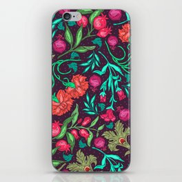 Asian-Inspired Happy Joy Colorful Floral Pattern iPhone Skin