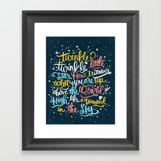 twinkle twinkle twinkle twinkle Framed Art Print