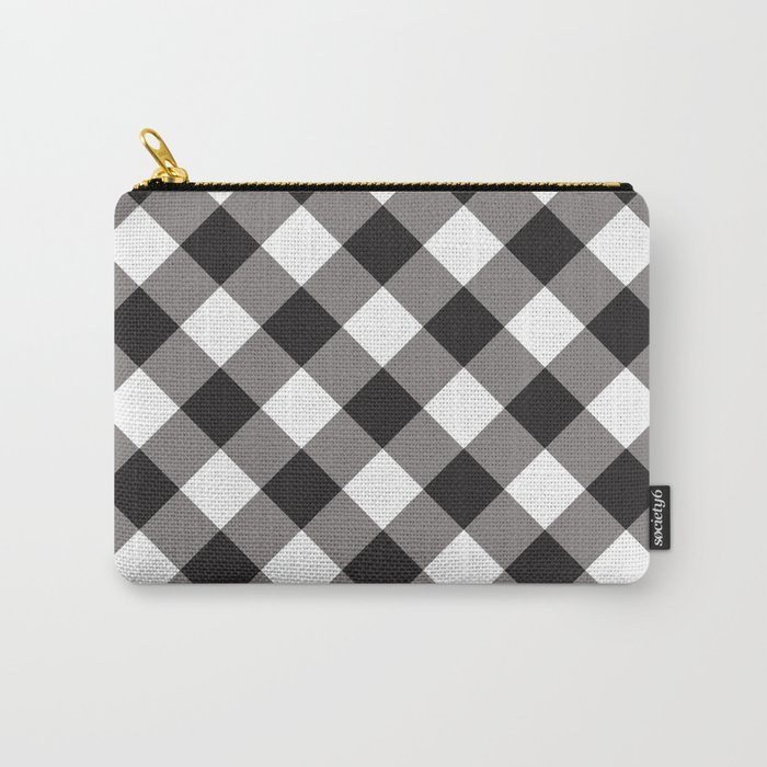 Gingham - Black Carry-All Pouch