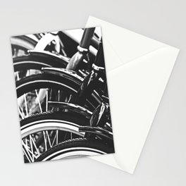 Bicycles, Bikes in Black and White Photography Stationery Cards