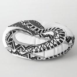 black king cobra pattern ecopop Floor Pillow