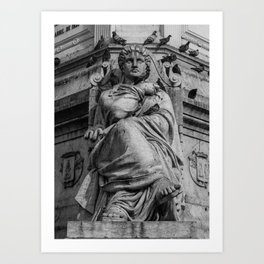 Independence Monument in Lisbon Art Print
