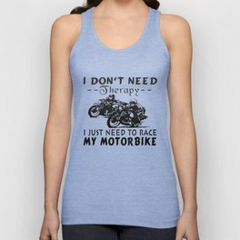 RACE MY MOTORBIKE Unisex Tank Top
