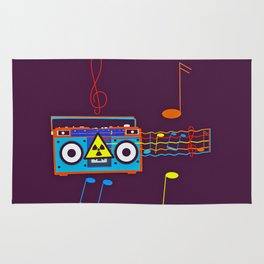 Radio Active musical waves Rug