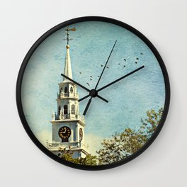 The Church at the Center of Town Wall Clock