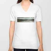country V-neck T-shirts featuring Country  by Julie Luke