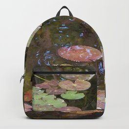 Koi Pond and Lilypads Backpack