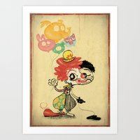 The Clown / Balloons / Facade Art Print