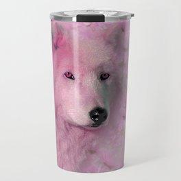 PINK WOLF FLOWER SPARKLE Travel Mug