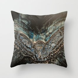 Shadow Owl - Bringer of Night Throw Pillow