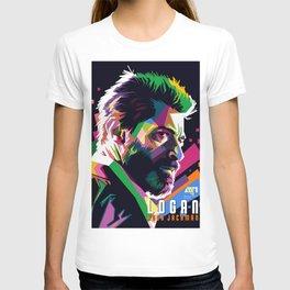WPAP of Hugh Jackman by andikoartwork T-shirt