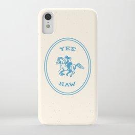 Yee Haw in Blue iPhone Case