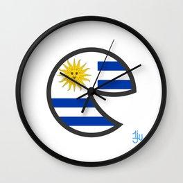 Uruguay Smile Wall Clock
