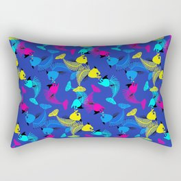 Fishes in blue love Rectangular Pillow