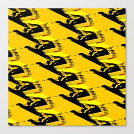 URBAN STREET CAMO YELLOW AND BLACK OLIVE GREEN DESIGN Canvas Print