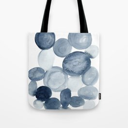 Pebbles Watercolor Abstract Tote Bag