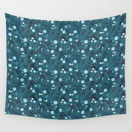Winter Night Blooms Wall Tapestry