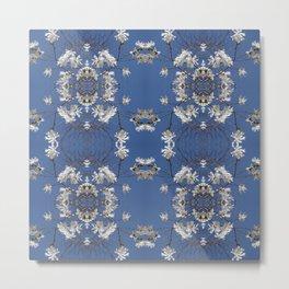 Star-filled sky (Star Magnolia flowers!) - diamond repeating pattern Metal Print