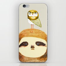 Sloth and Owl. iPhone & iPod Skin
