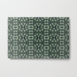 green pattern Metal Print