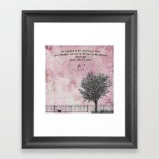 for love Framed Art Print