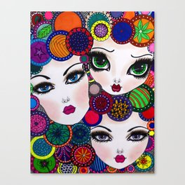 WHIMISCAL FACES Canvas Print