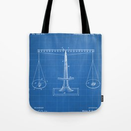 Lawyer Patent - Paralegal Art - Blueprint Tote Bag