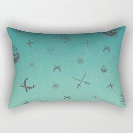 Caribbean Blue Rectangular Pillow