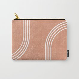 Mid Century Modern 2 - Geometrical Abstract - Minimal Print - Terracotta Abstract - Burnt Sienna Carry-All Pouch