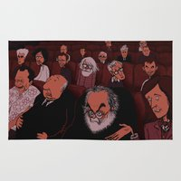 kubrick Area & Throw Rugs featuring At The Movies by Phil McAndrew