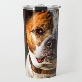 Pit Bull Rescue Poster Travel Mug