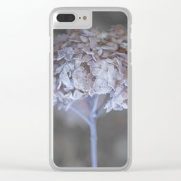 Frost Petals Of Hydrangea #decor buyart #society6 Clear iPhone Case