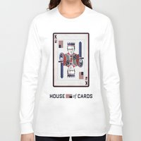 house of cards Long Sleeve T-shirts featuring House of cards Playing card  by Lewys Williams
