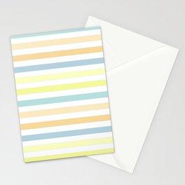 Horizontally striped , pastel 3 Stationery Cards
