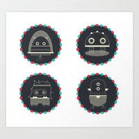 monster & iCOn Art Print