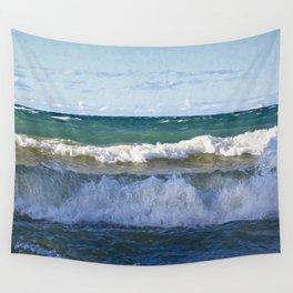Huron Waves Wall Tapestry